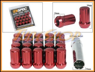 Lock Lug Nuts 12x1 5 1 5 Acorn Wheels Rims Close End Red M