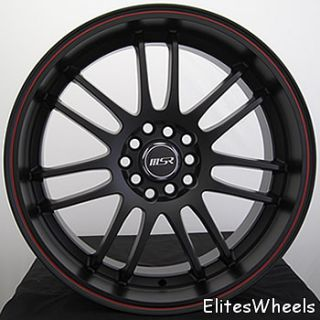 18x7 5 Black Wheel MSR 86 5x100 5x4 5 Rims Sale Civic Jetta Scion