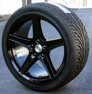18x9 Black Saleen Style Mustang ® Wheels Tires Cooper 265 35ZR18 1994