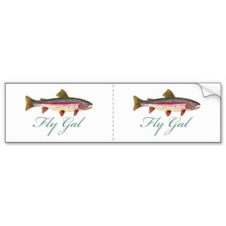 Trout Fly Fishing Bumper Sticker