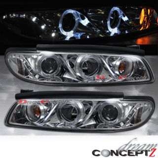 2003 PONTIAC GRAND PRIX CHROME HEADLIGHTS w/ DUAL RIMS & LED ONE PIECE