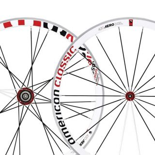 American Classic 420 Aero 3 Bladed Wheelset 700c 8 9 10 SPD F R White