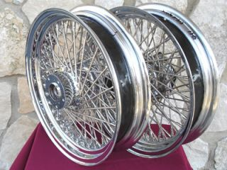 18X3.5 80 SPOKE FRONT & REAR WHEEL SET FOR HARLEY HERITAGE & FAT BOY