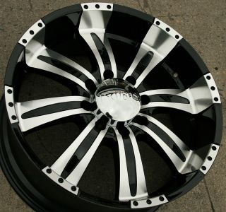 POLTERGEIST 501 22 BLACK RIMS WHEELS RAM 2500 94 02 / 22 x 9.5 8H +10