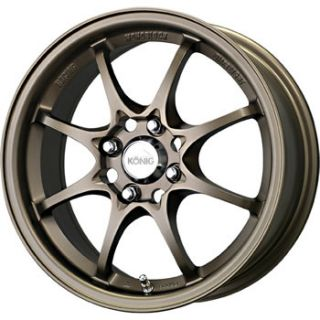 16x7 Bronze Konig Helium Wheels 4x100 40 Mercury Tracer Nissan Sentra