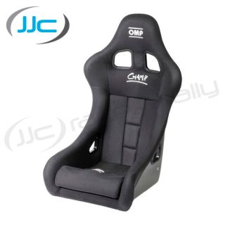 OMP Champ Fibreglass Racing Bucket Seat Black