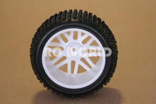 RC 1 10 Buggy Rims Tires Wheels Kyosho Tamiya Wide Spike