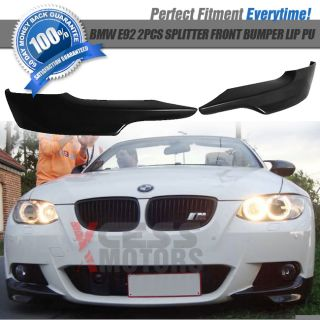 07 10 BMW E92 328 335 Mtec M Sport 2pc Front Bumper Lip Carbon Fiber