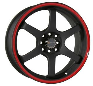 18 Black Wheels Rims Honda Civic S2000 Accord Celica Scion TC 5x100