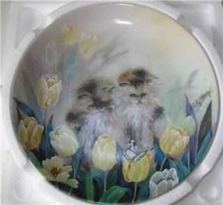 Lily Chang Plate Petal Pals 4th Issue Kitty Cat