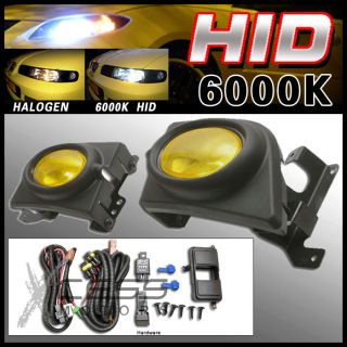 6000K HID 06 08 Honda Civic 4DR Sedan Yellow Lens Fog Lights Kit RH LH
