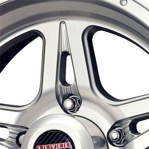 17 5 114.3 Level 8 Strike 5 Spoke Matt Silver Machined Wheels Rims