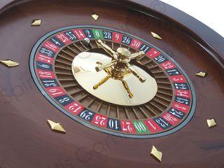 18 Solid Wood Las Vegas Casino Style Roulette Wheel