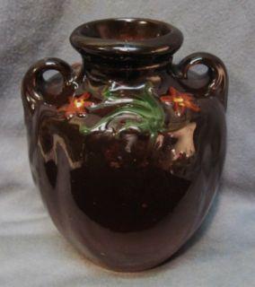 Antique Weller Art Pottery Floretta Vase Nouveau Organic Handles