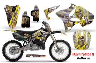 OFF ROAD MOTOCROSS GRAPHIC KIT YAMAHA YZ 125/250 02 11 IRON MAIDEN K