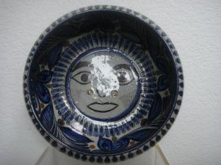 Vintage Mexican Bowl Tonala Pottery by Jorge Wilmot Salvador Vasquez