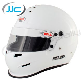 Bell RS3 Pro Helmet Hans Posts x Small White 55 56cms