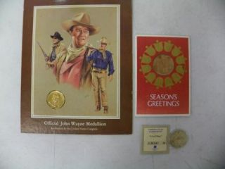Commemorative Medals John Wayne Civil War Franklin Mint A219