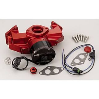 Meziere Enterprises Water Pump Electric 35 GPM Billet Aluminum Red