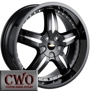 18 Black Baccarat Sync Wheels Rims 5x112 5x120 5 Lug Passat Audi