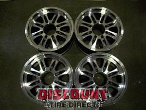 Used 17x8 8x165.1 8 165.1 Mb Gunner 8 Anthracite Machined Wheels/Rims