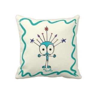 Funny Fellows™ Cartoon Character Vasilis Pillows