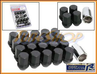 35MM WHEELS LOCK LUG NUTS 12X1.5 12 1.5 ACORN RIM FORGED DURA BLACK M