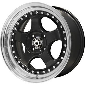 New 16X7 4 100 Konig Candy Gloss Black Machined Lip Wheels/Rims