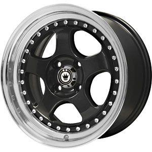 New 16X7 4 100 Konig Candy Gloss Black Machined Lip Wheels/Rims