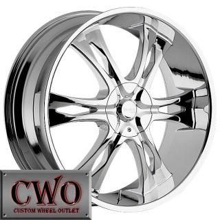 22 Chrome Incubus Nemesis Wheels Rim 5x127 5x135 5 Lug Jeep Wrangler