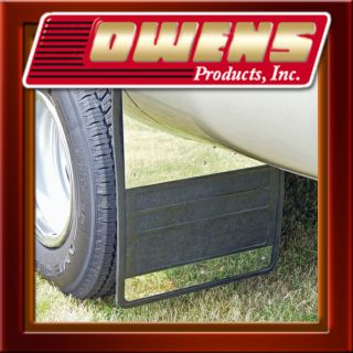 Dually Rear Rubber Mud Flap w Stainless Steel Chevy GMC Silverado 3500