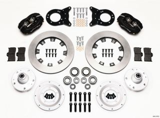 Wilwood Disc Brake Kit Front Rear 65 69 Mustang Black