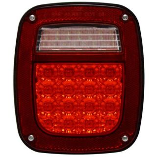 LED Jeep Wrangler Tail Lamp w Connector 91 97 Passenger Side