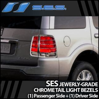 2003 2007 Lincoln Aviator Ses Chrome Tail Light Bezels