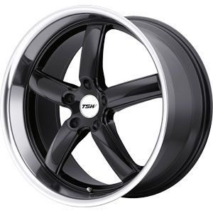 New 17X8 5 114.3 Stowe Gloss Black Machined Lip Wheels/Rims