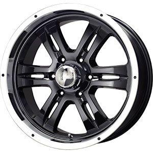 New 17X8 6 135 Mb Gunner 6 Gloss Black Machined Wheel/Rim