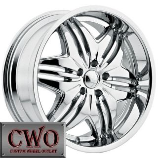 24 Chrome Devino Verve rwd Wheels Rims 5x139 7 5 Lug Dodge RAM Durango