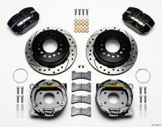 Wilwood Disc Brake Kit 71 74 AMC Javelin Black Drilled