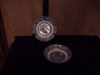 Staffordshire China Liberty Blue 2 Fruit Sauce Bowls
