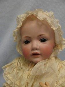 19 Antique Kestner Hilda Baby ©1914 Solid Dome 1070 Brown Glass Eyes
