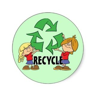 Kids Recycle Round Sticker