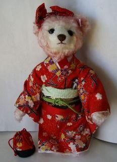 New Matsujhime Steiff Teddy Bear Japan 1500 EDT Woodbox Certificate