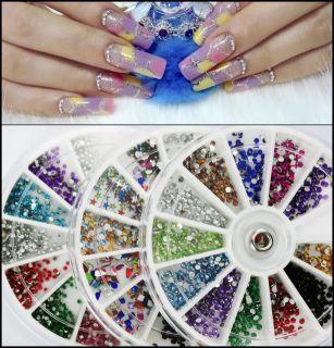 3600pcs Nail Glitter Rhinestones Glitter Wheel B18