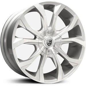 20x8.5 Lexani Lust silver wheel rim 6x5.5 6x139.7 Escalade Silverado