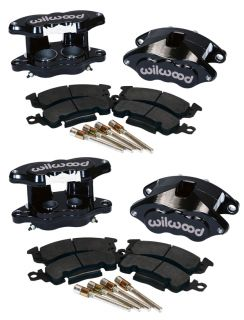 WILWOOD D52 BRAKE CALIPER & PAD SET W/PINS,FRONT & REAR,1.28,BLK,BIG