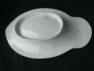 RARE 1855 English J Edwards White Ironstone Relish