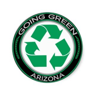 Going Green Recycle Arizona Sticker