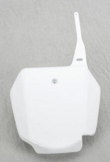 UFO Plastics Front Number Plate White for Suzuki RM85 02 12