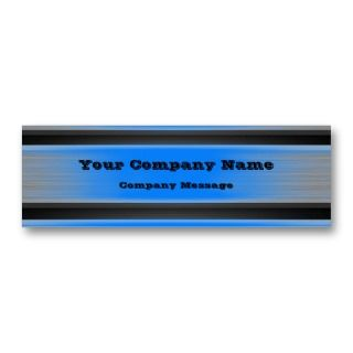 Blue Metal Business Card Template Generic