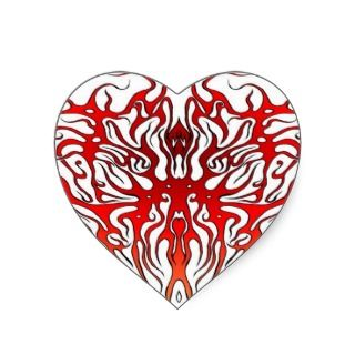 Tribal Tattoo Valentine Heart Heart Stickers